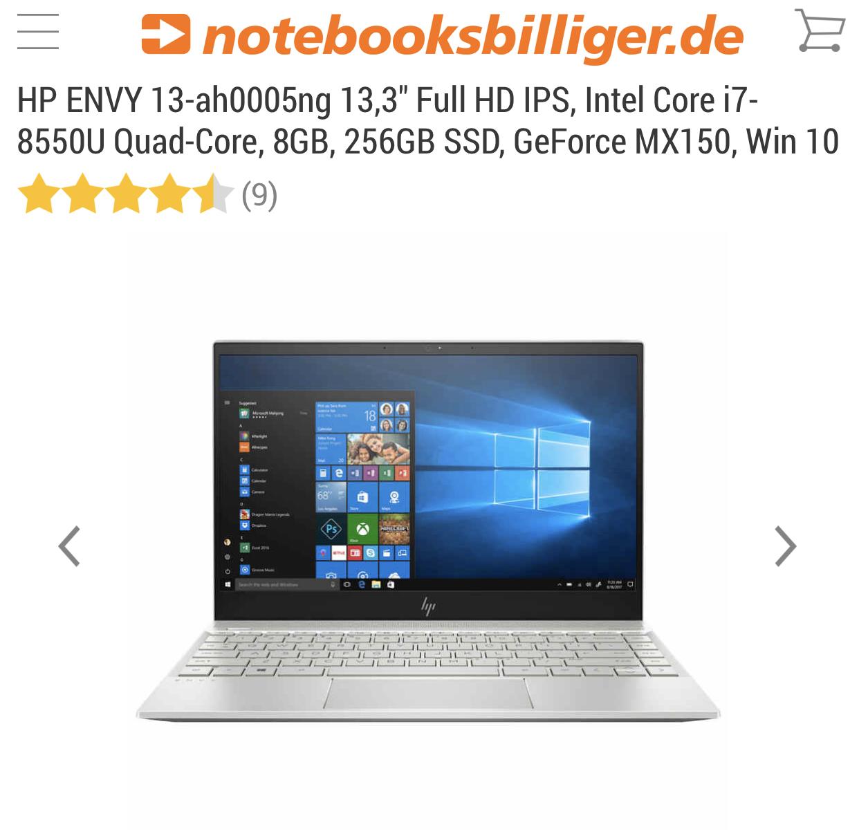 HP Notebooks und PC's mit 15-20% Ermässigung- bei Notebooksbilliger