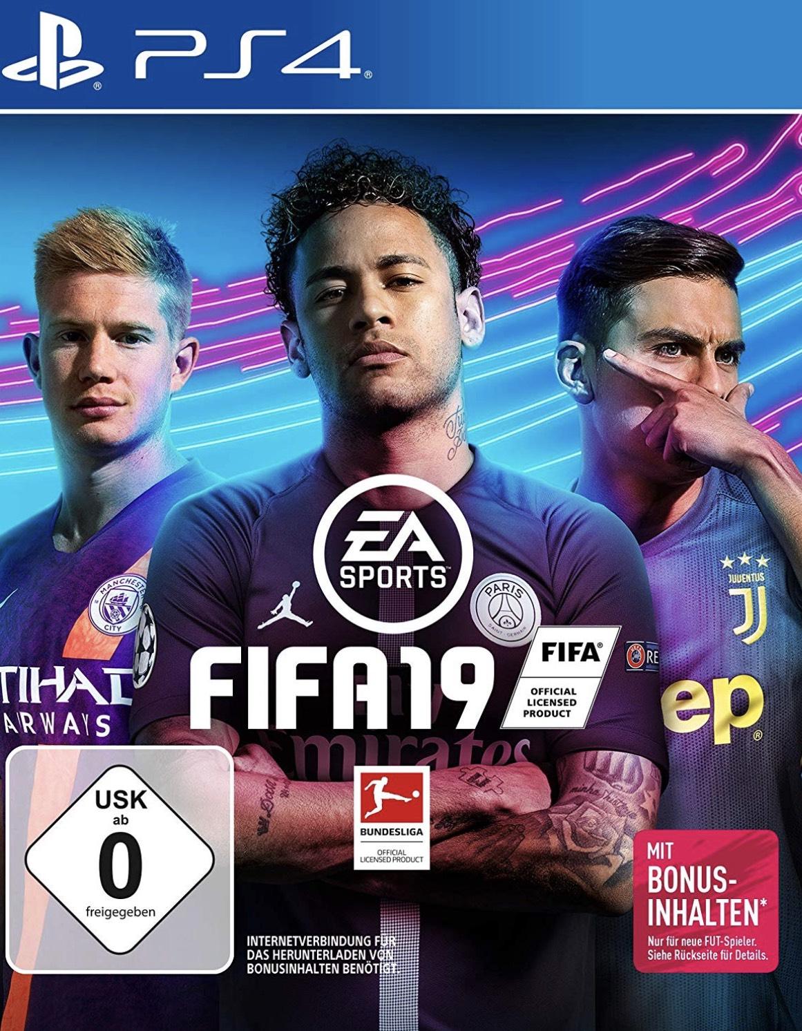 Fifa 19 für Ps4 oder Xbox One um 30,24€