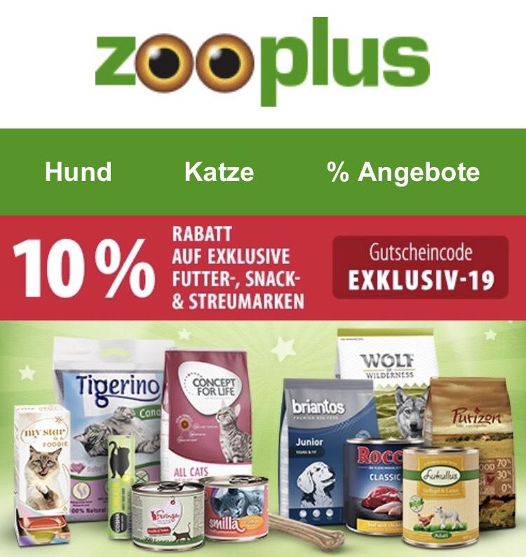 Zooplus -10% auf Futtereigenmarken (auch auf Streu)