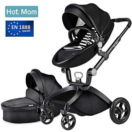 Hot Mom Limited Edition Kombikinderwagen mit Buggyaufsatz und Babywanne 2017