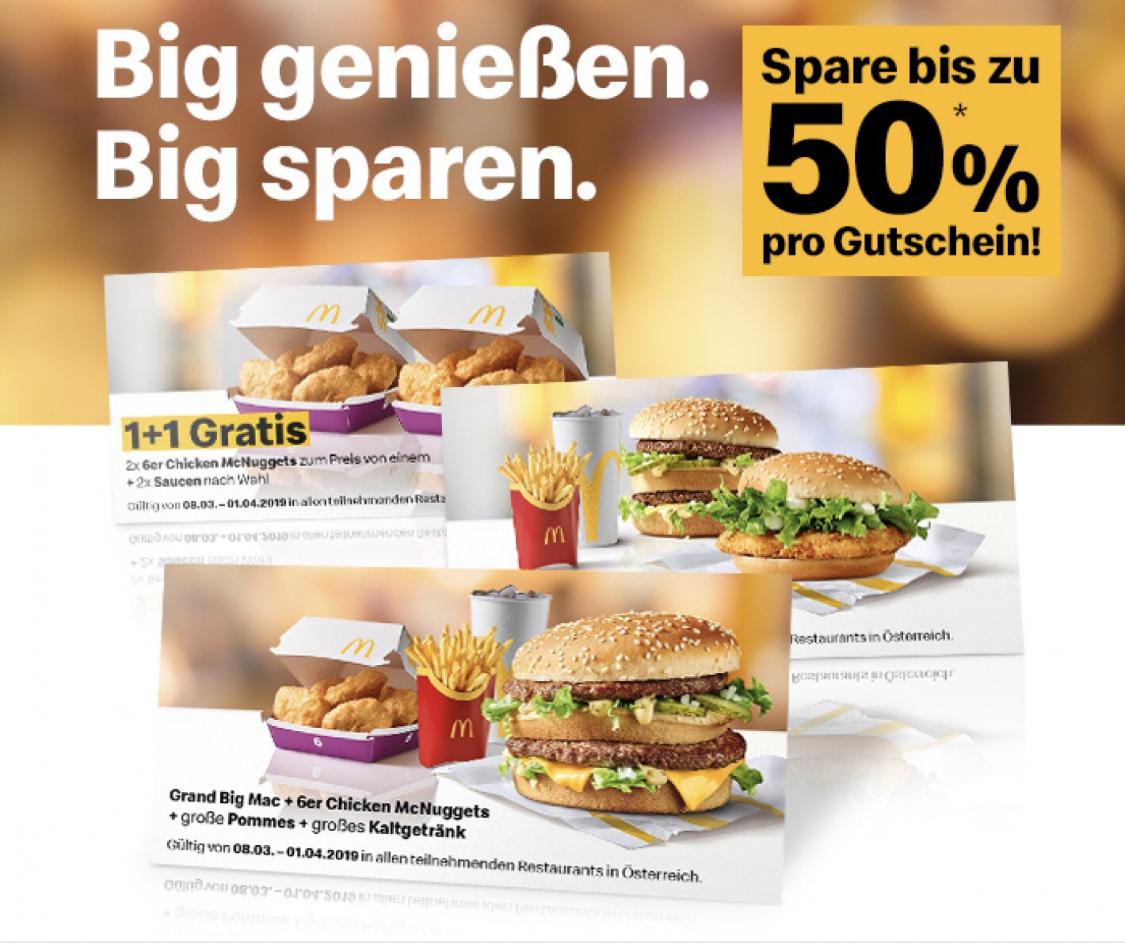 """Neues McDonalds """"Bonusbuch"""" - Gutscheine - bis 1.4.2019"""