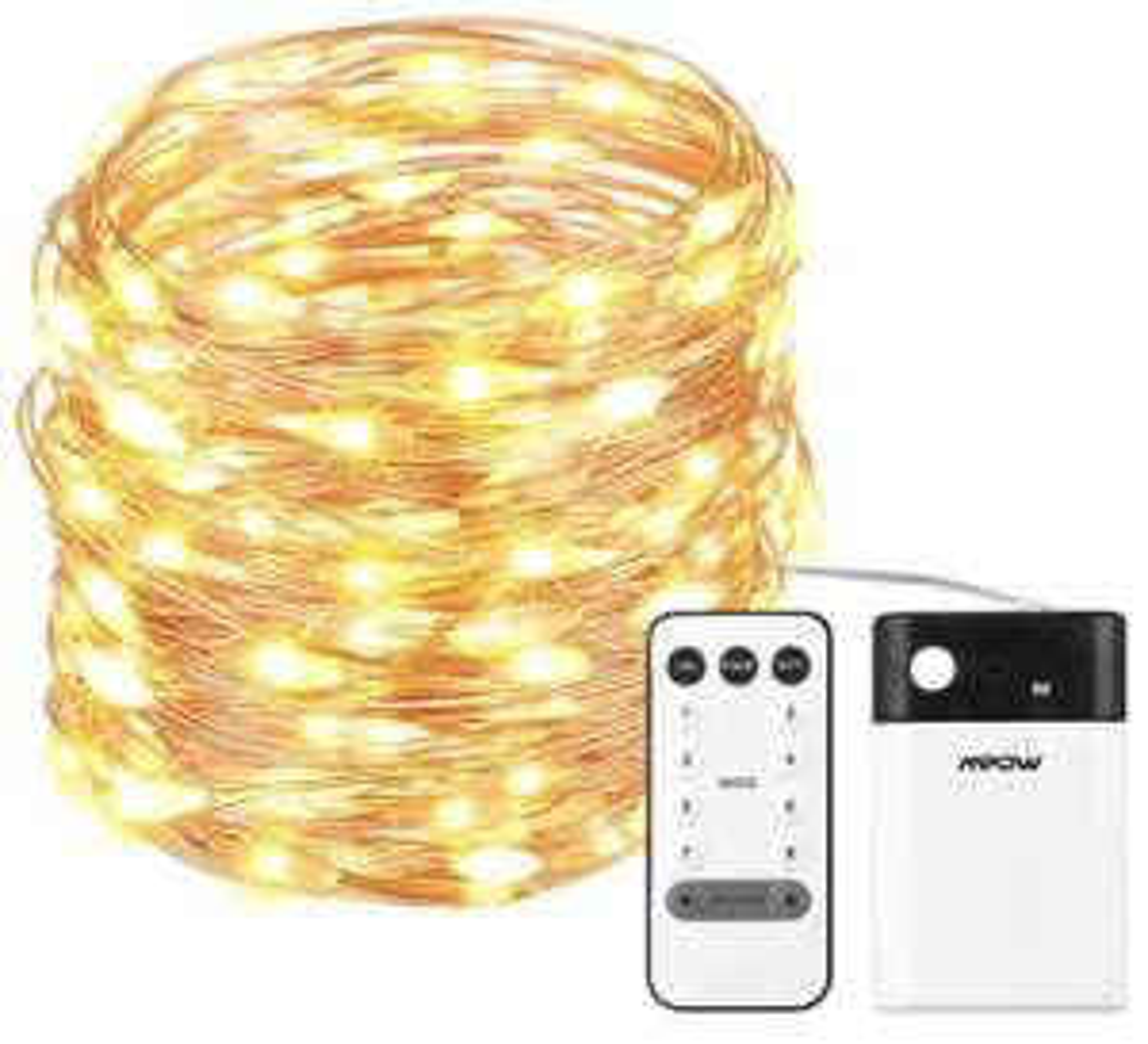 Antizyklisch Kaufen: Mpow 10m Lichterkette mit 100 LEDs (warmweiß / kaltweiß) um 6,,96€