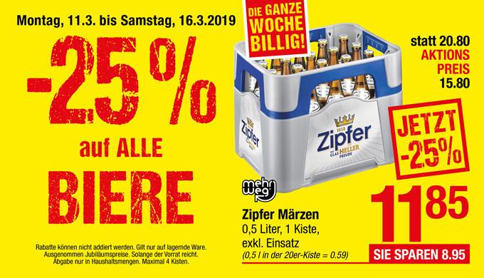[Maximarkt] -25% auf alle Biere