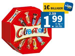 Lidl Plus: Celebrations 186g nur 1,99€