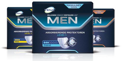 TENA MEN: kostenloses Testpaket für Blasenschwäche