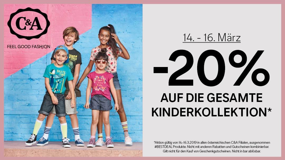 C&A -20% auf die Kinderkollektion