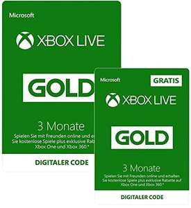 Amazon.de: 6 Monate Xbox Live Gold  (3+3 Monate) [Xbox Live Download Code]