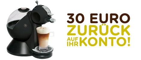 Nescafe Dolce Gusto 30€ Cashback Aktion