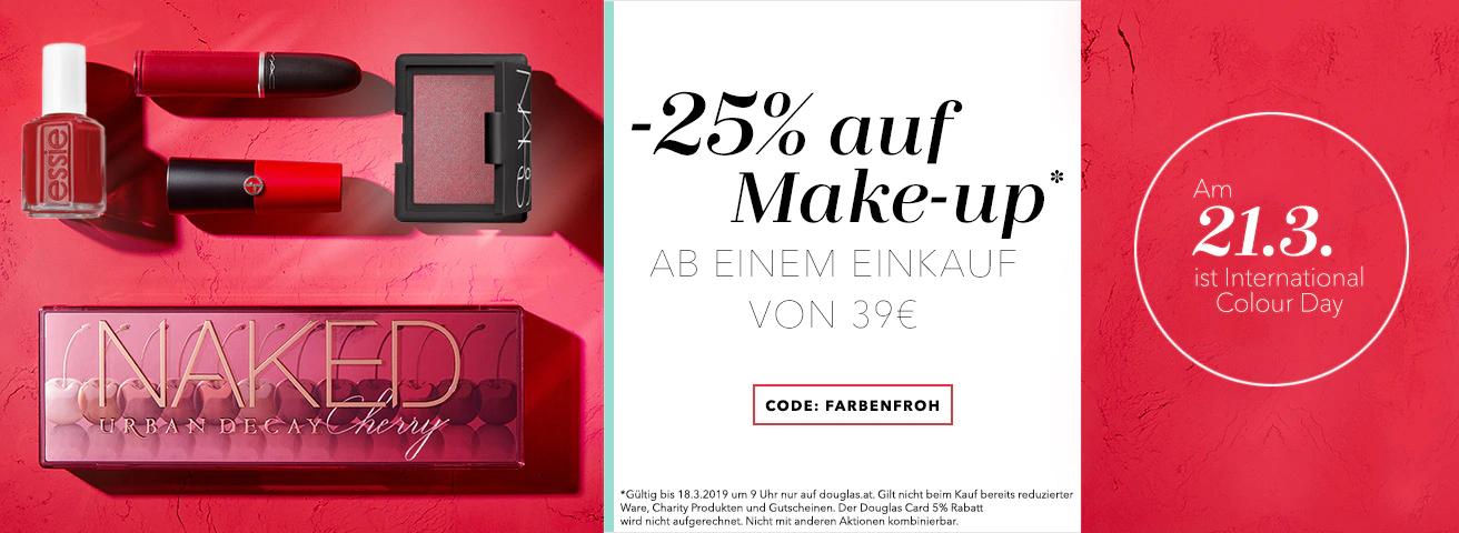 Douglas: -25% auf Make-up ab 39€
