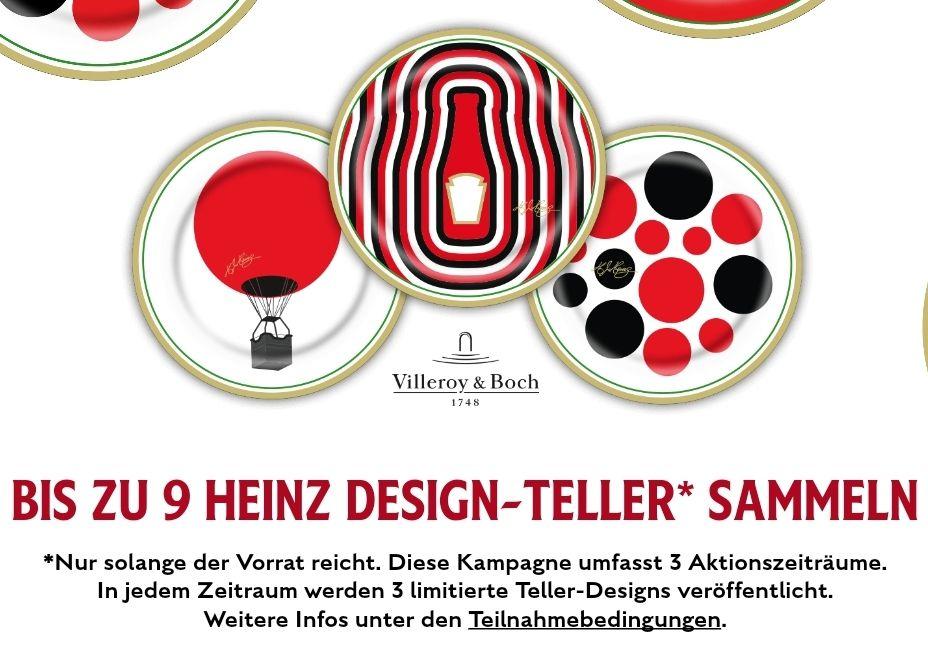 3 Heinz-Produkte kaufen & 1 Design-Teller von Villeroy&Boch gratis erhalten