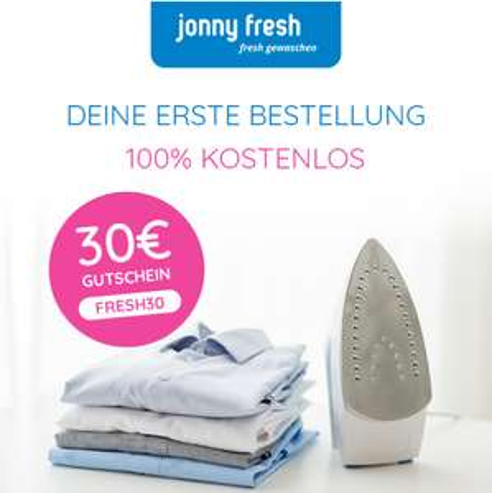 30 Euro Gutschein für Jonny Fresh (Wäscheservice mit Abholung + Lieferung)