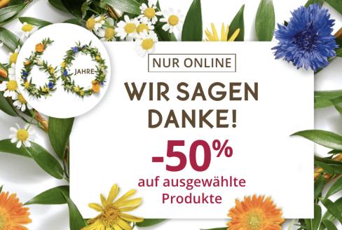 Yves Rocher: 50% auf ausgewählte Produkte (nur online)