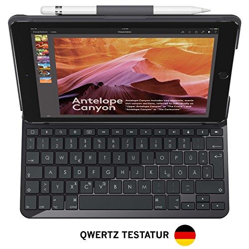 Logitech Slim Folio iPad Tasche (mit Drahtloser Tastatur und Bluetooth) für 62,99€