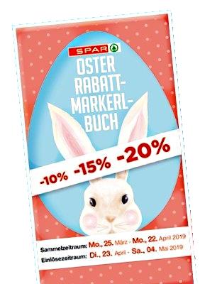 Spar: Oster-Rabattmarkerl sammeln und Prozente kassieren! - Bis zu -20% auf einen Einkauf Ihrer Wahl!