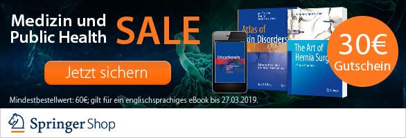 Springer: 30€ Rabatt ab 60€ auf ein eBook in Medizin und Public Health - nur bis zum 27. März
