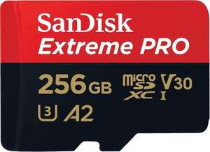 [Amazon.co.uk] SanDisk Extreme PRO R170/W90 microSDXC 256GB Kit, UHS-I U3, A2, Class 10