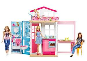 Amazon.de: Barbie 2-Etagen Ferienhaus & Puppe