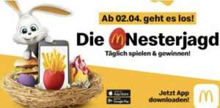 McDonalds - myMcdonalds Nesterjagd - ab 2.4.2019