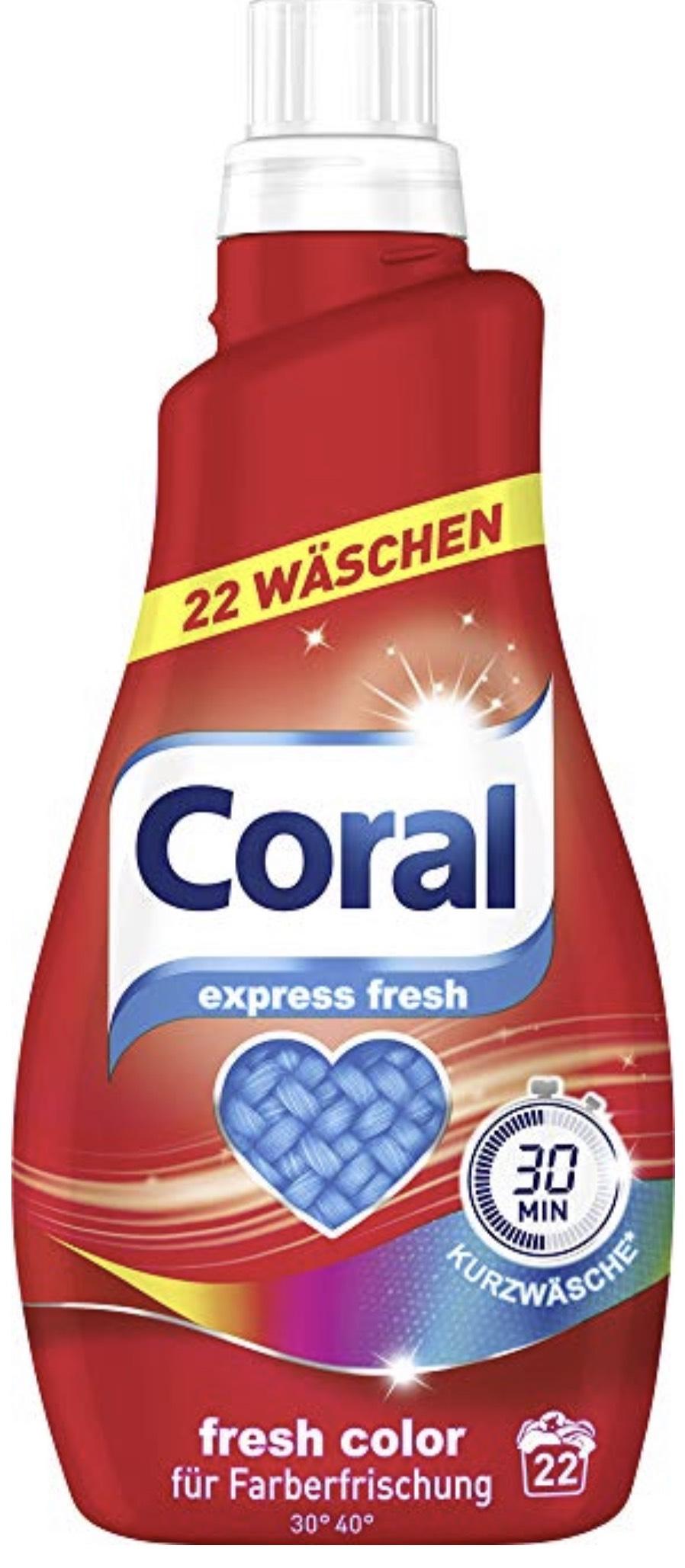 3x Coral Feinwaschmittel Fresh Color flüssig 44 WL für 15,06€ im Spar-Abo
