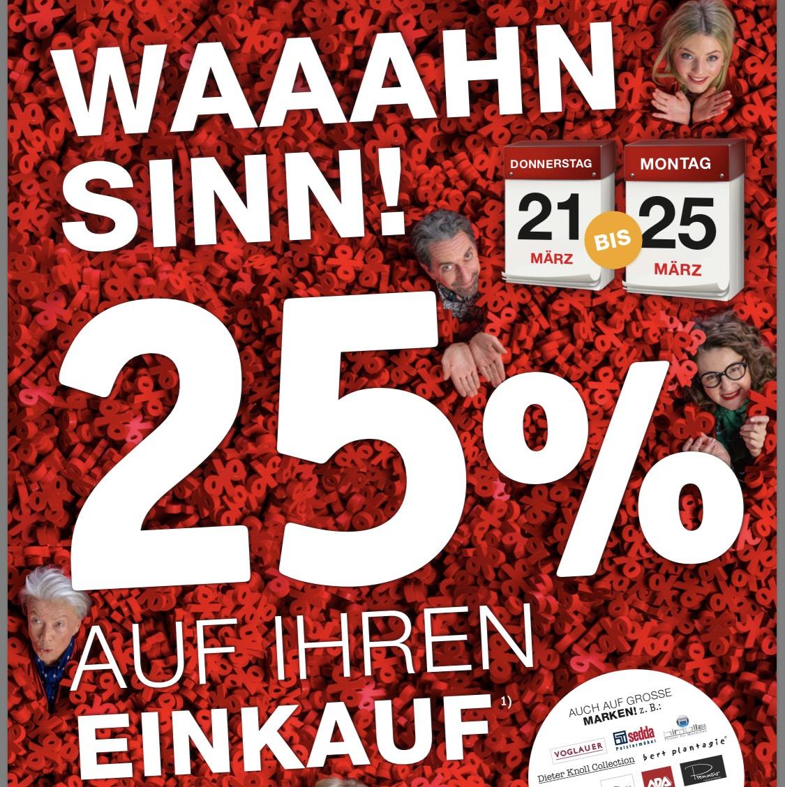 [XXXLutz] -25% auf den Einkauf