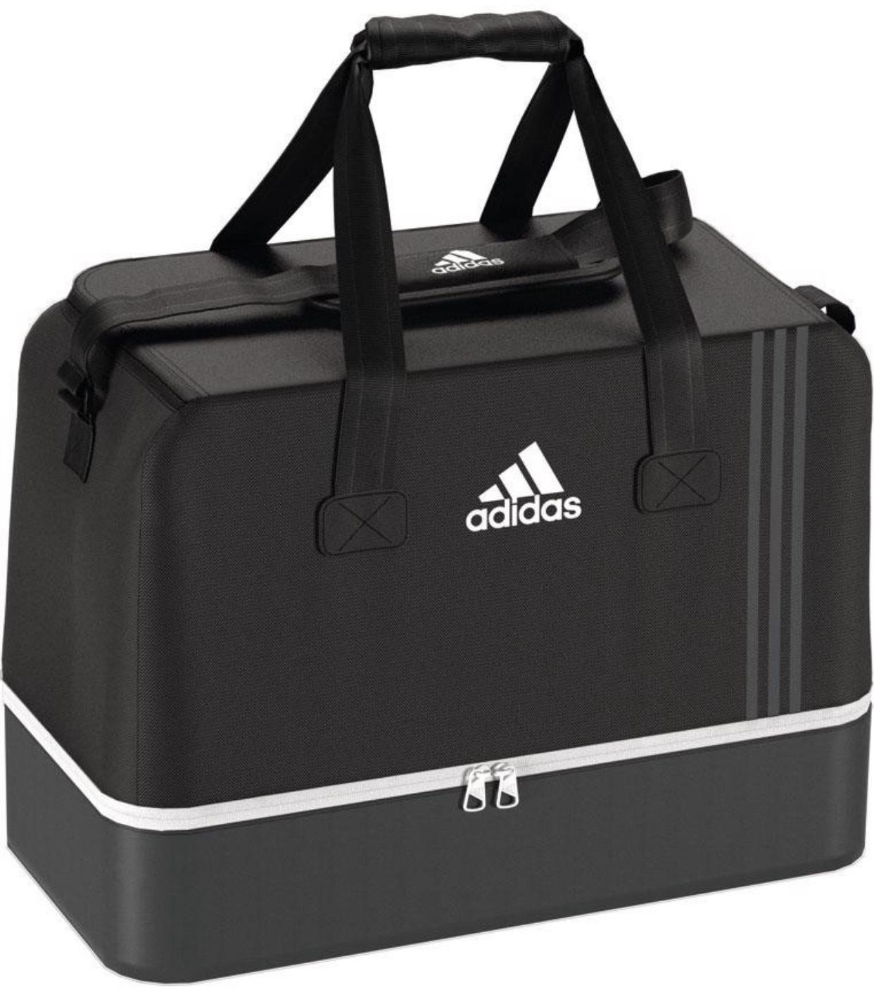 adidas Sporttasche Tiro Teambag Bottom Compartment M in Schwarz oder Blau für 19,95€
