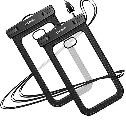 """Doppelpack wasserdichte Handyhüllen für Smartphones bis 6,2"""" (IPX8 zertifiziert, bis 30m wasserdicht) für 4.49€"""