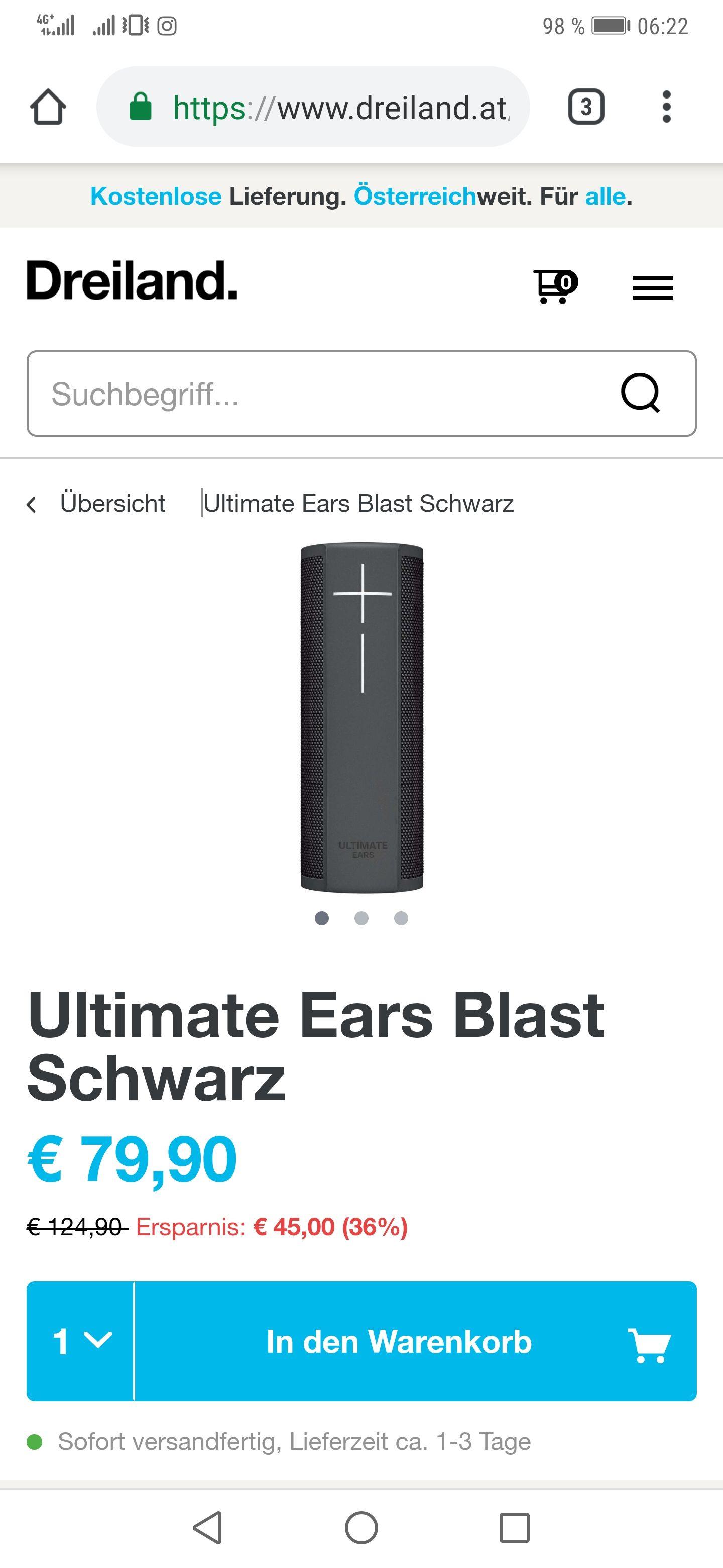 Ultimate Ears Blast Schwarz