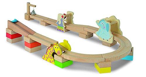 Eichhorn 30-teiliges Kugelbahn Kinder-Spielzeug aus Buchenholz