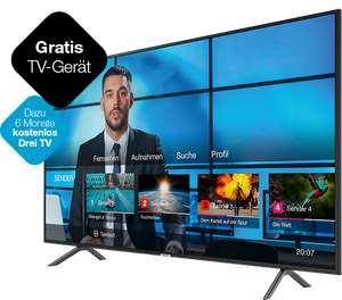 (Drei) EasyNet Internet + 55 Zoll UHD Samsung Gratis oder 65 Zoll UHD Samsung für 342€