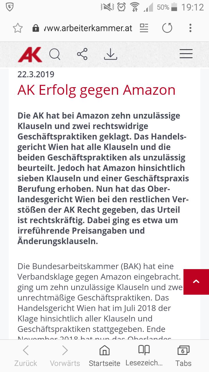 Geld zurück von Amazon  für Prime Mitglieder