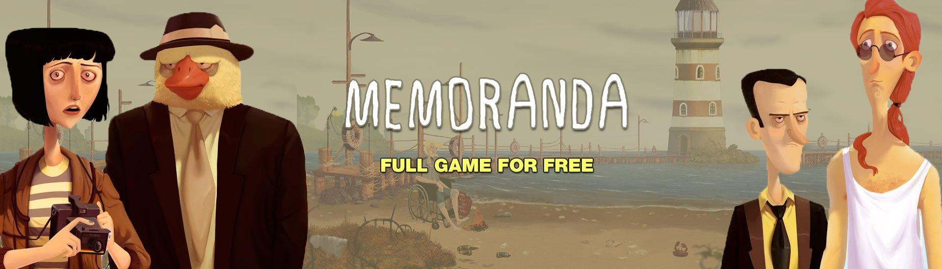 Indiegala: Memoranda, gratis