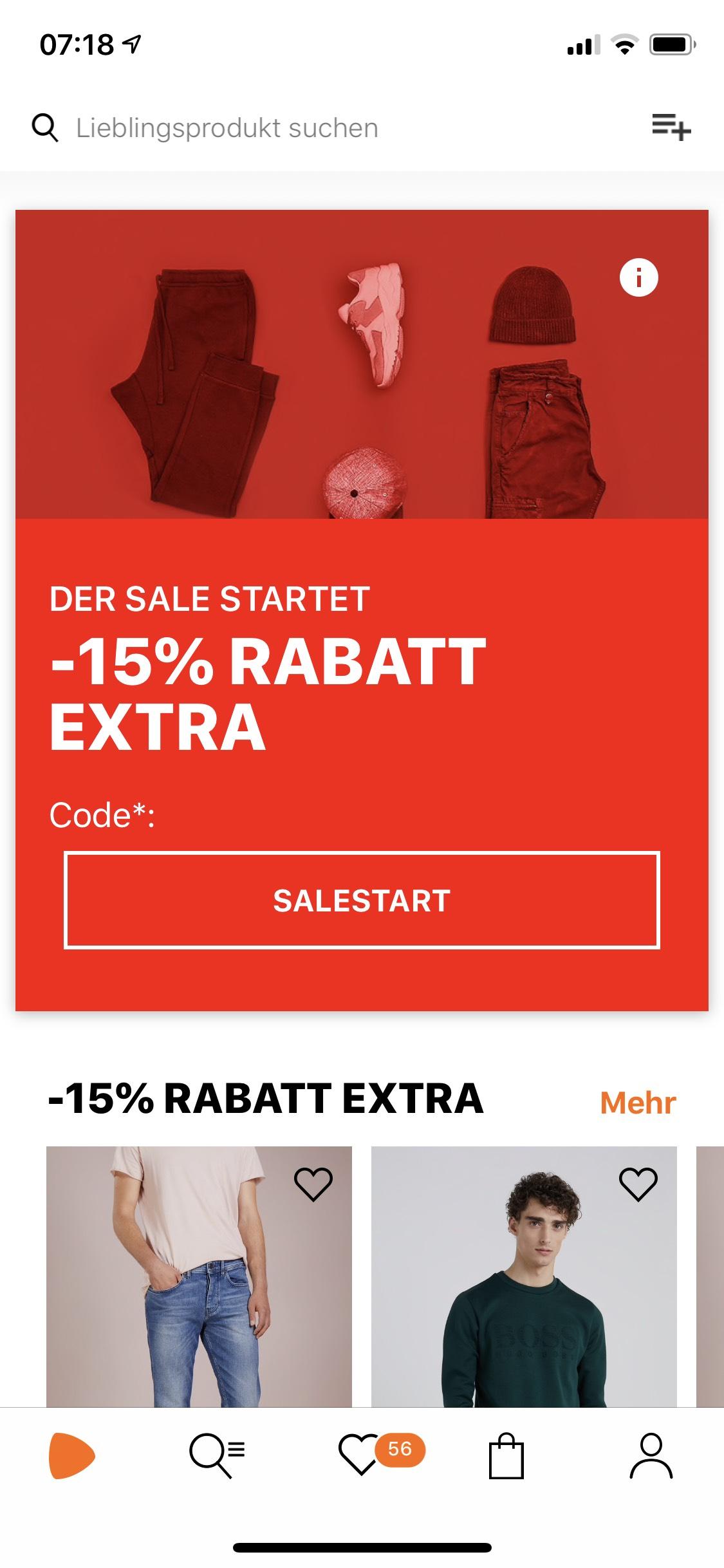 Zalando -15% auf alle reduzierten Artikel