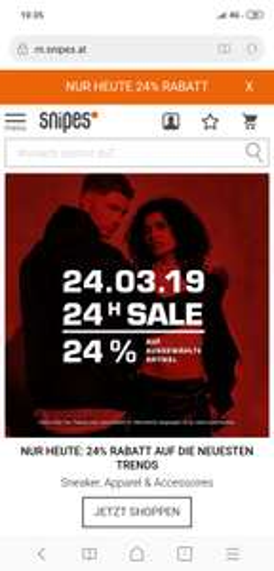 Snipes online -24%