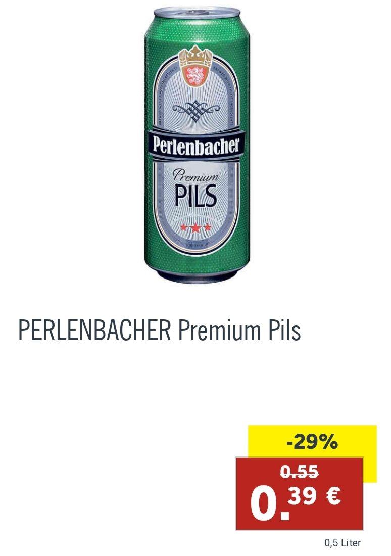 Bis zu 12x 0,5 L Perlenbacher Bier bei Lidl mit Aktionsfinder Cashback