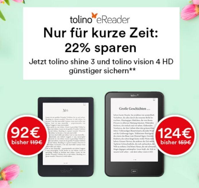 Thalia: Tolino Shine 3 & Tolino Vision 4HD zum Bestpreis!