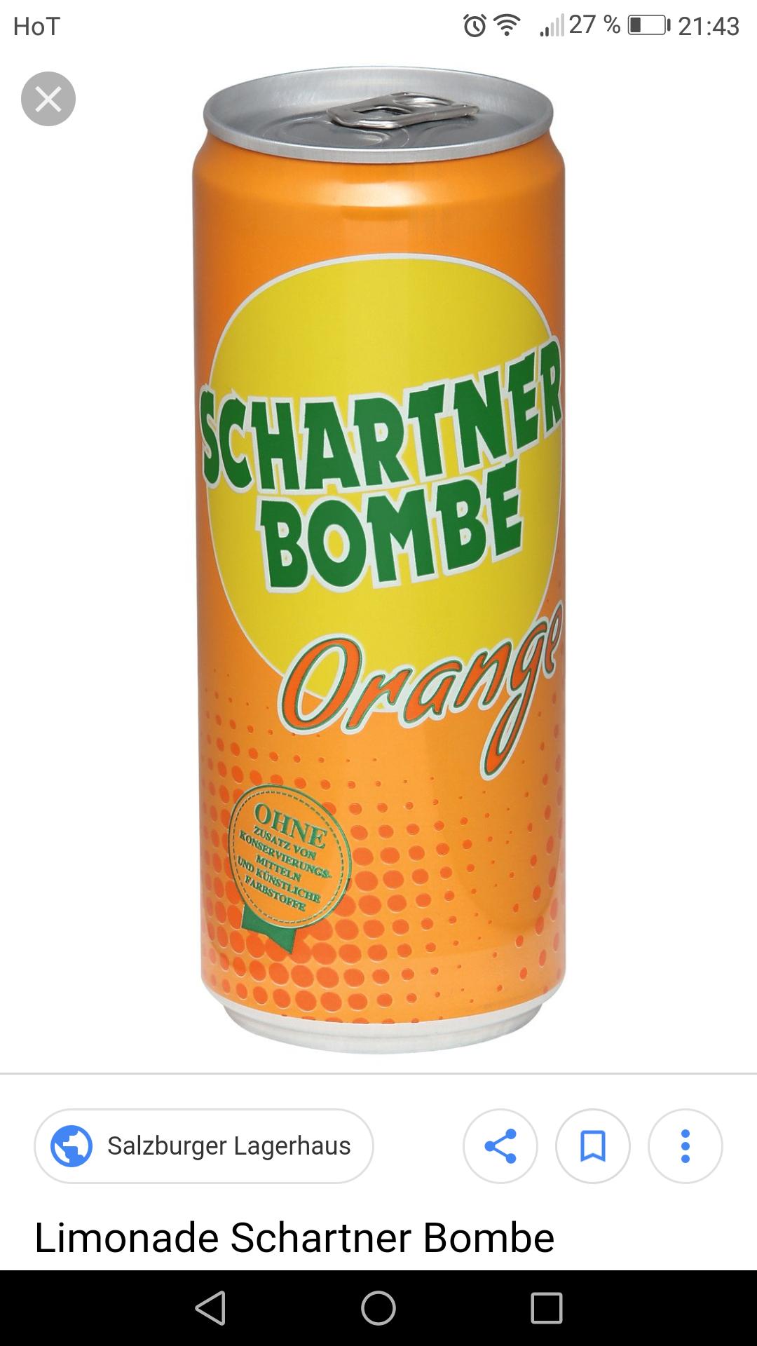 T&G schartner Bombe 0.33 Liter ab 24 Dosen um 0.29 Euro