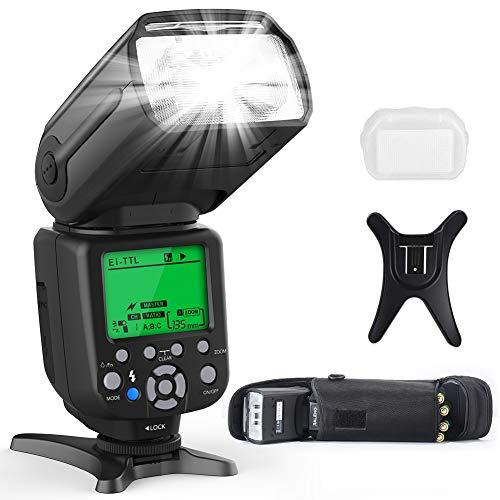 [Amazon] RALENO F550 Blitz für Canon & Nikon DSLR Kameras (E-TTL & i-TTL Dual Mode 1/8000) für 39,99€ (statt 60€)