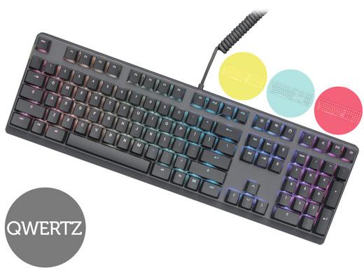 Mionix Wei Mechanische RGB Tastatur, Cherry MX-RGB-Red, USB, DE (MNX-03-27001-DE) + 3x Tastenkappen Sets für 75,90€