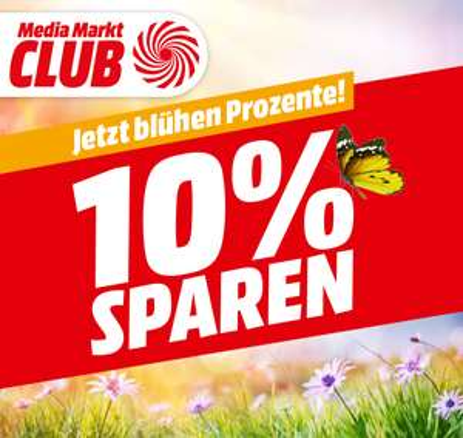 Media Markt - 10% Rabatt auf lagernde Ware ab 100 € - 28.3.-31.3.2019
