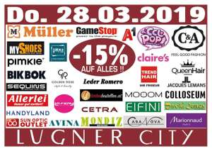 Lugner City: -15 % in 32 Shops und am Kino-Buffet