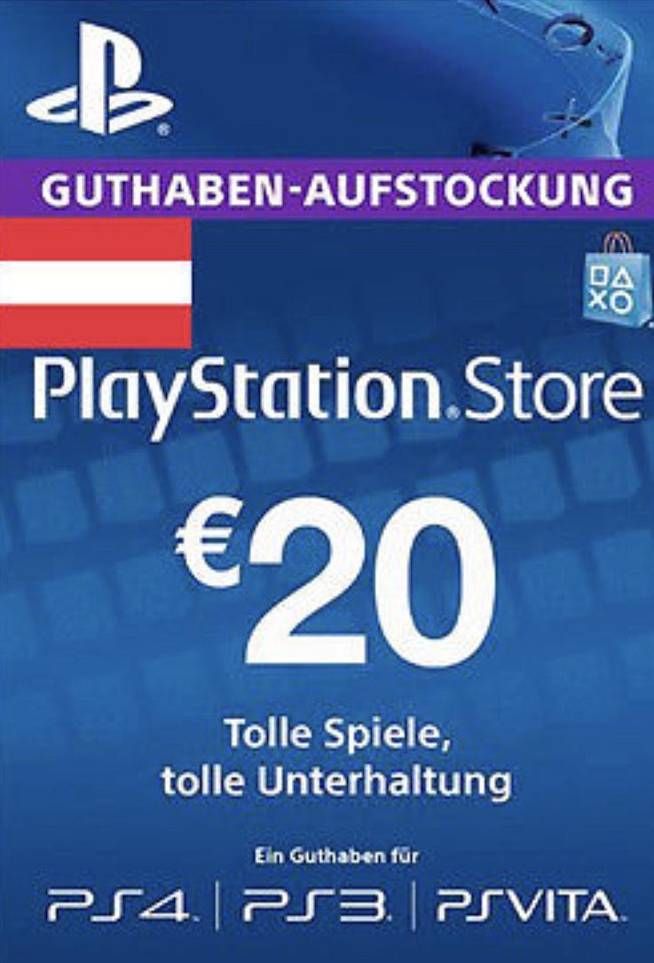 PlayStation Store:  20€ Guthaben für 13,83