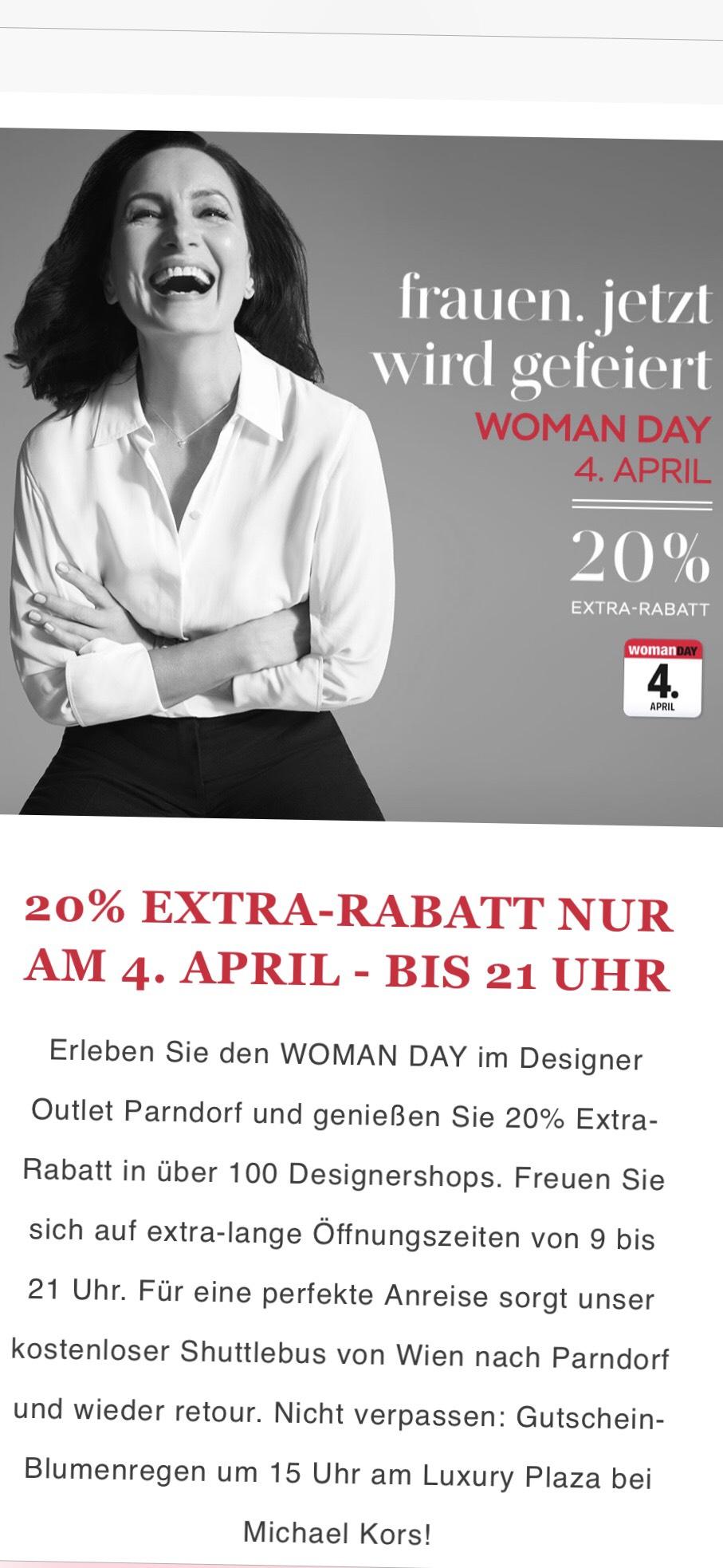 Designer Outlet Parndorf WOMAN DAY 4.April