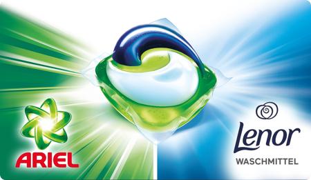 Ariel & Lenor 3 in 1 Pods Gratis Testen mit Geld-zurück Garantie