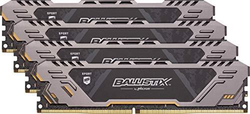 Ballistix Sport AT BLS4K16G4D30CEST 64 GB (16 GBx4) Gaming-Speicher Kit (DDR4, 3000 MT/s, PC4-24000, DRx8, DIMM, 288-Pin