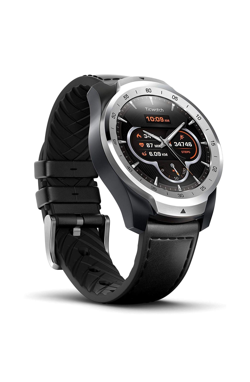 Ticwatch Pro in Silber mit Google Wear OS