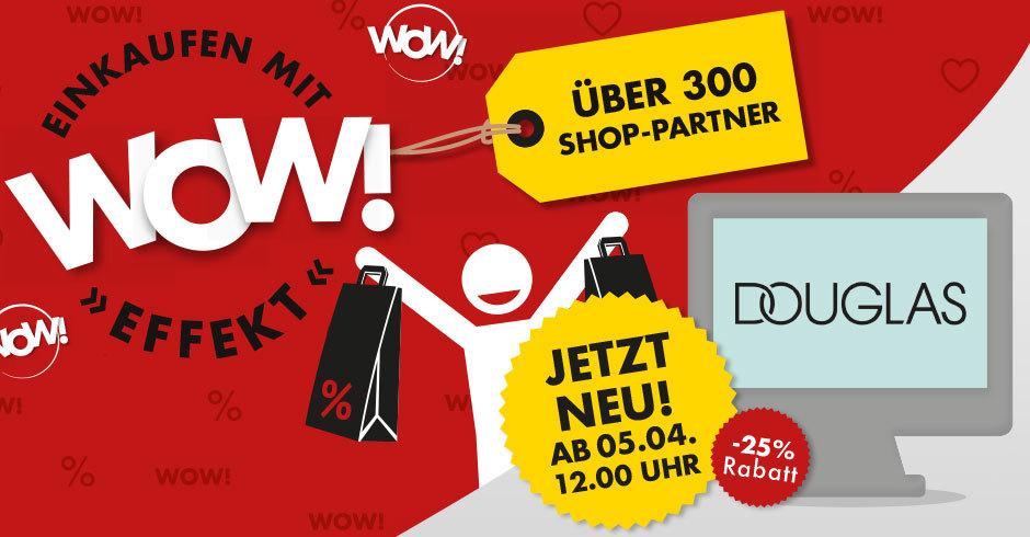Weekend Shop - 25% Rabatt auf Gutscheine von Douglas - heute ab 12 Uhr