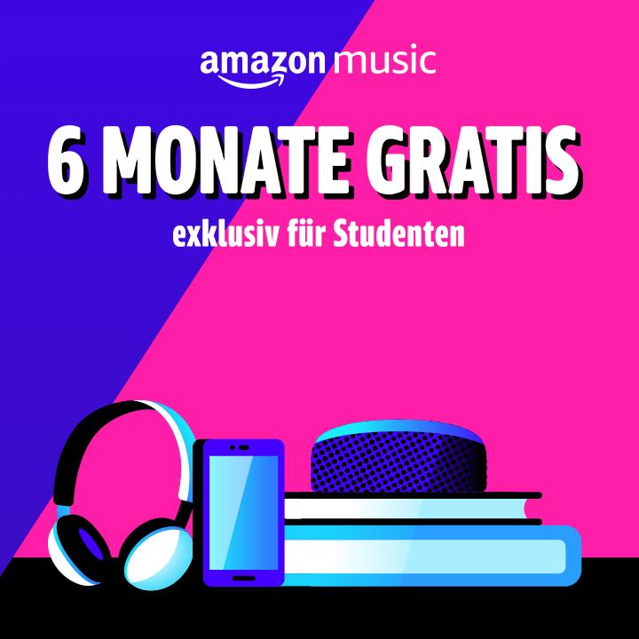 [Studenten] 6 Monate Amazon Music Unlimited