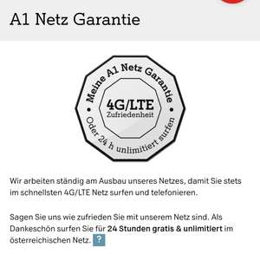 A1 24h gratis Internet