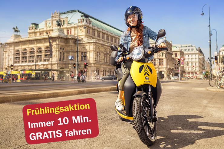 [ÖAMTC] easy way - e-Moped Sharing - jeweils die ersten 10 Minuten kostenlos - bis 31. Mai