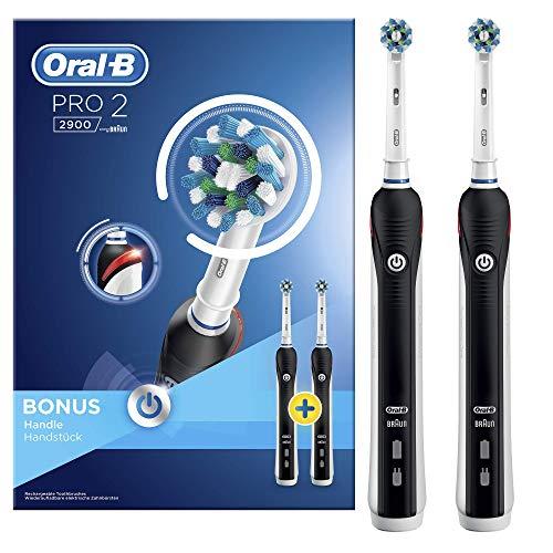 """Oral-B """"Pro 2900 Black"""" elektrische Zahnbürste + 2.Handstück"""